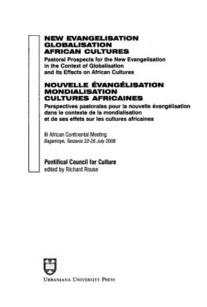 New Evangelisation  Globalisation  African Cultures PDF