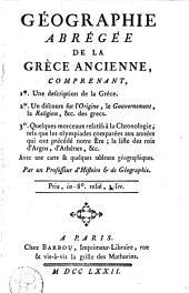 Géographie abrégée de la Grèce ancienne ...