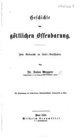 Geschichte der göttlichen Offenbarung, etc