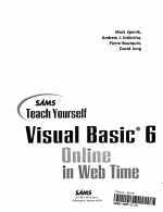 Sams Teach Yourself Visual Basic 6 Online in Web Time PDF