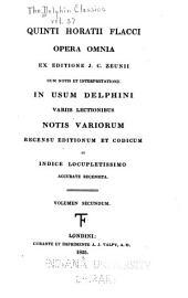 Opera omnia, ex editione J.C. Zeunii: cum notis et interpretatione in usum Delphini variis lectionibus notis variorum recensu editionum et codicum et indice locupletissimo accurate recensita ...