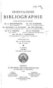 Orientalische Bibliographie: Band 5