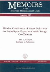 Holder Continuity of Weak Solutions to Subelliptic Equations with Rough Coefficients: Issue 847