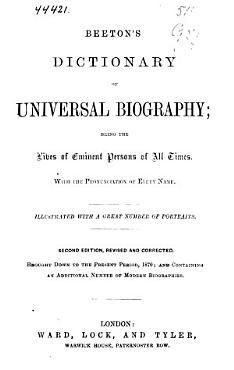 Beeton s Dictionary of Universal Biography PDF