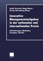 Innovative Managementaufgaben in der nationalen und internationalen Praxis PDF