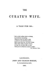 The curate s wife Book