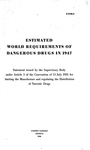 Estimated World Requirements of Narcotic Drugs in     PDF