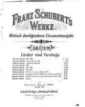 Werke: Lieder und Gesange (10 v.)