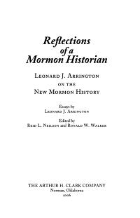 Reflections of a Mormon Historian