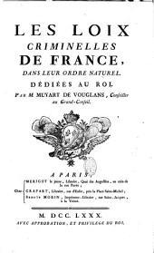 Les lois criminelles de France