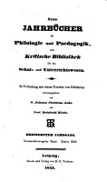 Jahnscher Jahrb  cher f  r Philologie und Paedagogik PDF