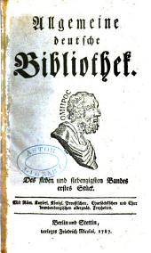 Allgemeine deutsche Bibliothek: Bände 77-78