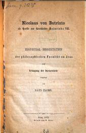 Nicolaus von Butrinto als Quelle zur Geschichte Heinrichs VII