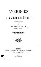 Averroes et l'Averroïsme, essai historique