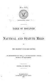 Table of Distances in Nautical and Statute Miles by the Shortest Navigable Routes: Issues 1-5