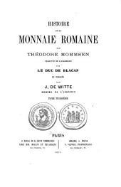Histoire de la monnaie romaine: Volume3