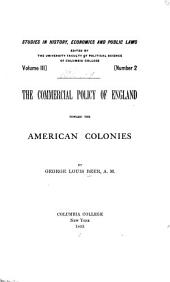 The Commercial Policy of England Toward the American Colonies: Issue 9