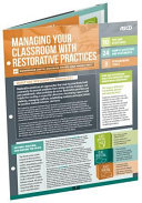 Managing Your Classroom with Restorative Practices (Quick Reference Guide 25-Pack)
