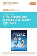 Textbook of Veterinary Physiology   Pageburst E Book on Kno  Retail Access Card  PDF