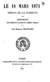 Le 18 mars 1871: Début de la Commune