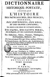 Dictionnaire Historique-Portatif, 2: Volume1
