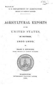 Agricultural exports of the United States, by countries, 1895-1899