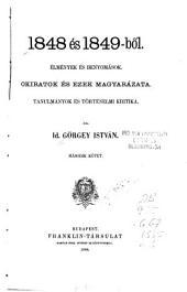 1848 és 1849-bol̋: élmények és benyomások, 2. kötet