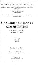 Standard Commodity Classification.--Supplement to Vol. II.