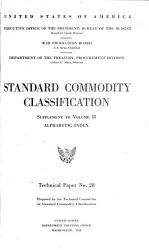 Standard Commodity Classification   Supplement to Vol  II  PDF