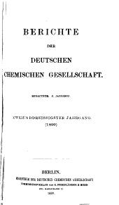 Berichte der Deutschen Chemischen Gesellschaft [etc.]: Band 32,Seiten 1-1354