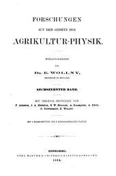 Forschungen auf dem gebiete der agricultur-physik: Band 16
