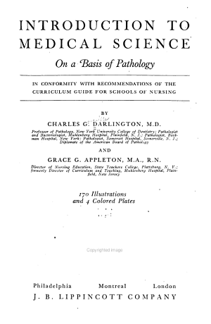 Introduction to Medical Science on a Basis of Pathology PDF