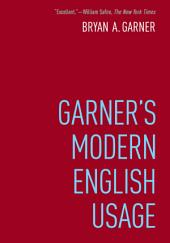 Garner's Modern English Usage: Edition 4