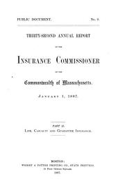 Annual Report of the Insurance Commissioner: Volume 32, Part 2
