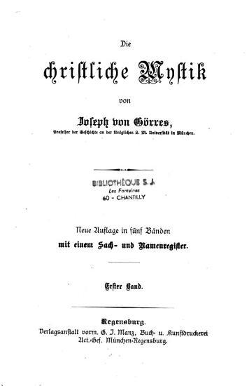 Die Christliche Mystik PDF