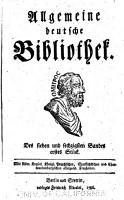 Allgemeine deutsche Bibliothek PDF