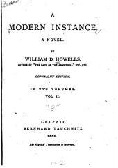 A Modern Instance: A Novel, Volume 2