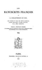 Les Manuscrits Francois de la Biblitheque du Roi