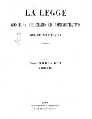 La legge monitore giudiziario e amministrativo del Regno d Italia PDF