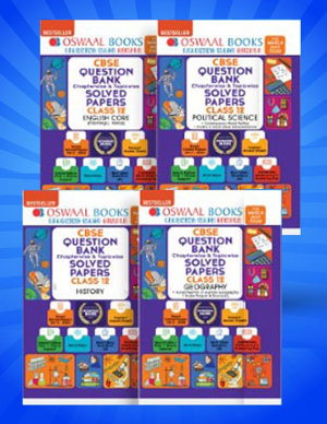 Oswaal CBSE Question Bank Class 12  Set of 4 Books  English  History  Geography  Political Science  For 2021 Exams