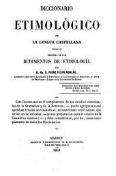 Diccionario etimológico de la lengua castellana: (ensayo)