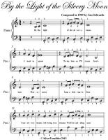 By the Light of the Silvery Moon Easy Piano Sheet Music PDF