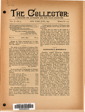 The Collector: A Monthly Magazine for Autograph and Historical Collectors, Volume 10, Issue 9