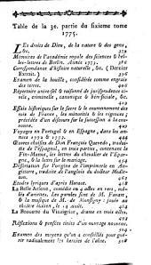 Journal encyclopedique ou Universel: Volume6,Partie3