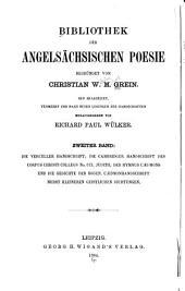 Bibliothek der angelsächsischen Poesie: Band 2