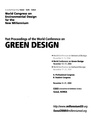 Post Proceedings of the World Conference on Green Design PDF