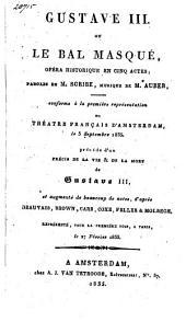 Gustave III ou le bal masqué,: opéra historique en cinq actes;
