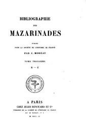 Bibliographie des mazarinades: Volume3