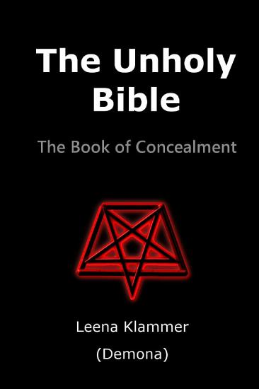 The Unholy Bible  The Book of Concealment PDF