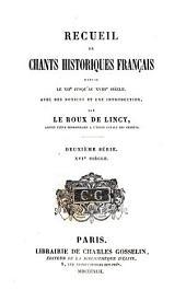 Recueil de chants historiques française: XVIe siècle
